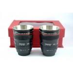 2 Adet Dekoratif Canon Objektif Lens Görünümlü Shot Bardak Seti