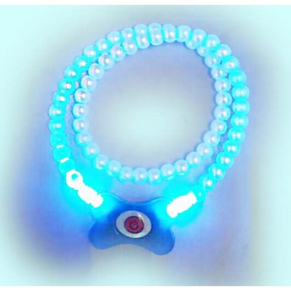 Buffer Mavi Renk Neon Led Işıklı Kedi Köpek Kolyesi (18,5 cm)