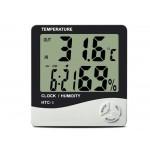 Bebek Odası Masaüstü Dijital Termometre Nem Ölçer Higrometre Saat