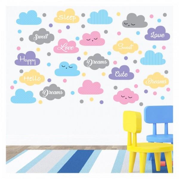 Bulutlar-2 95x58 cm. Duvar Sticker