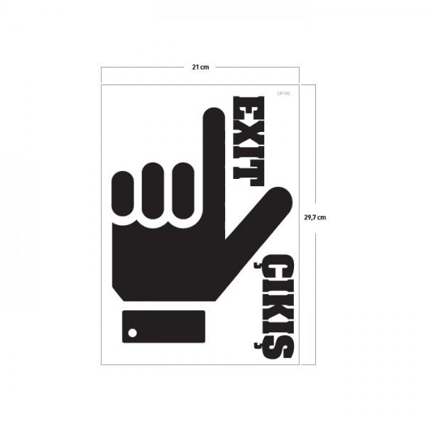 Burası Klozet Sticker 19X24 Cm