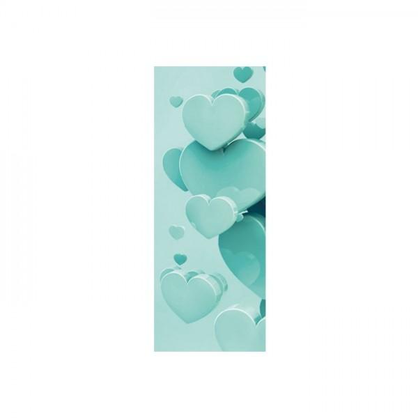 Buzdan Kalp Buzdolabı Sticker