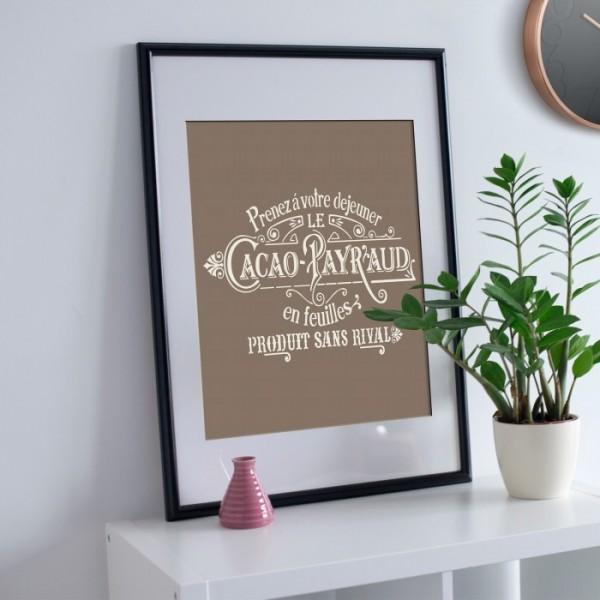 Cacao Stencil Tasarımı 30 x 30 cm