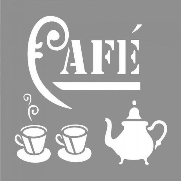 Cafe Babbino Stencil Tasarımı 30 x 30 cm