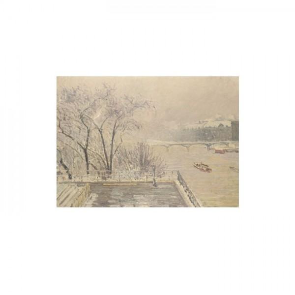 Camille Pissarro - The Louvre under Snow 50x70 cm