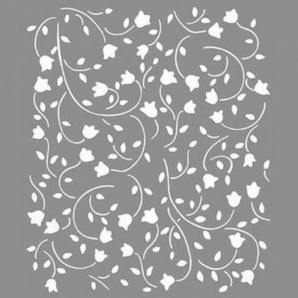 Carnation Desen Stencil Tasarımı 30 x 30 cm