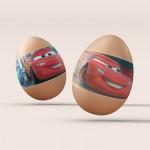 Cars-1 Yumurta Sticker, Yumurtayı Sevdiren, Sticker