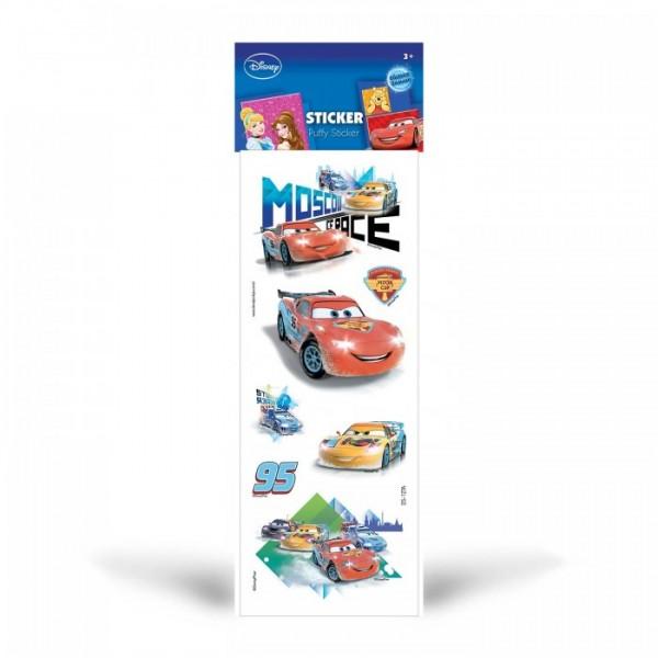 Cars Puffy Sticker 6,5x17 cm, Puffy Çıkartma, Puffy Yapıştırmaları