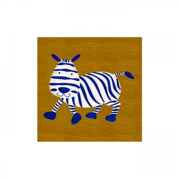 Cartoon Zebra 4 Parça Kanvas Tablo 70X70 Cm