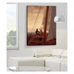 Caspar David Friedrich - On a Sailing Ship 50x70 cm