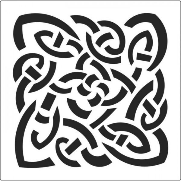 Celtic Çerçeve Stencil Tasarımı 30 x 30 cm