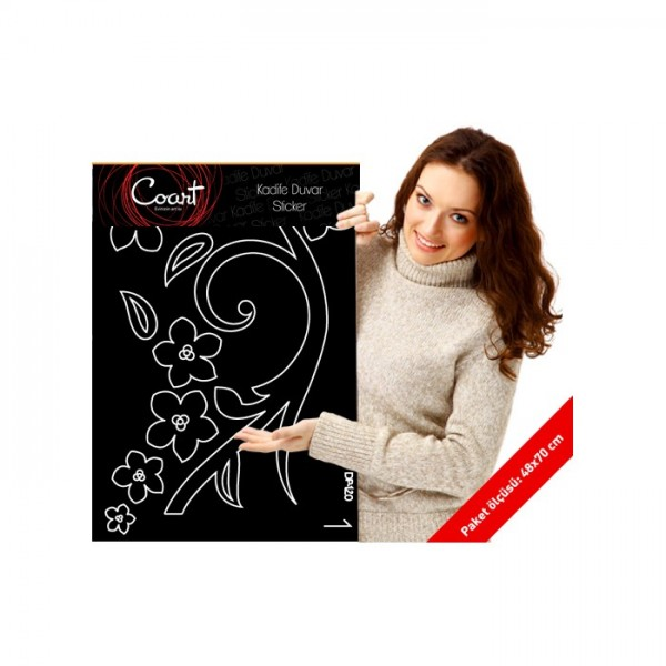 Cennet Kuşu Kadife Duvar Sticker 2500 Adet Kristal Taş