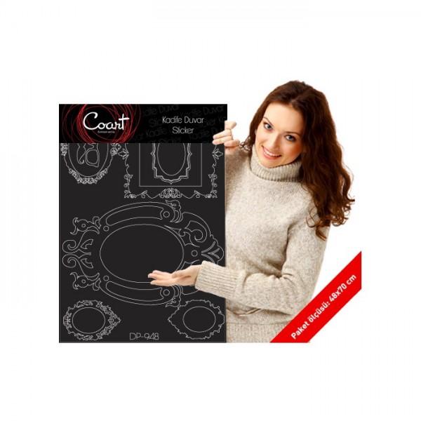 Çerçeve-2 Kadife Duvar Sticker 78X55 Cm