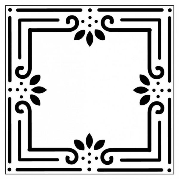 Çerçeve Karo Stencil Tasarımı 30 x 30 cm