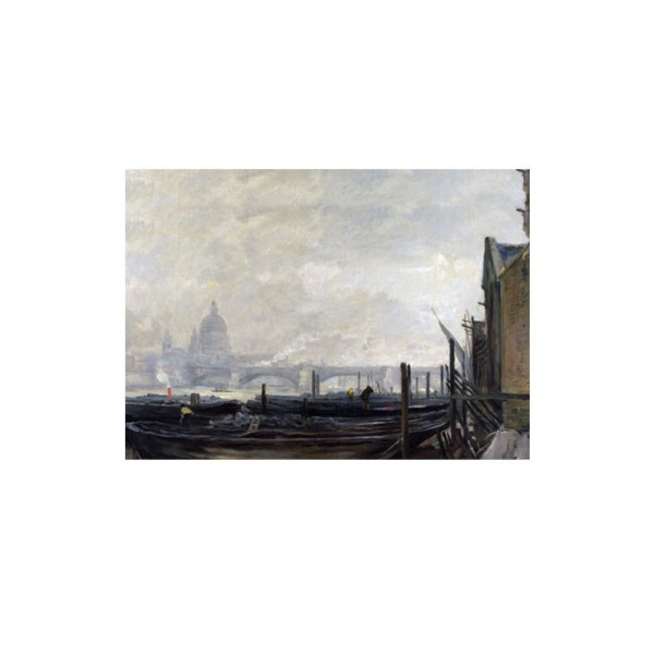 Charles-François Daubigny - St Paul's from the Surrey Side 50x70 cm