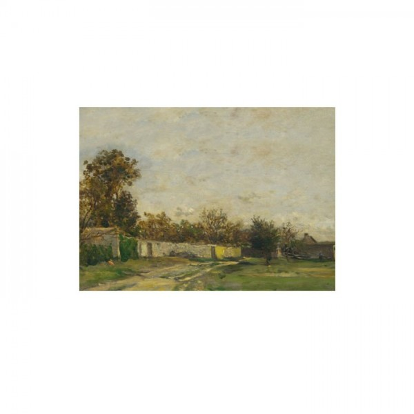 Charles-François Daubigny - The Garden Wall 50x70 cm