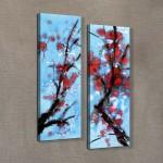 Cherry Blossom 60x90 cm Kanvas Tablo