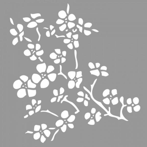 Cherry Tree  Stencil Tasarımı 30 x 30 cm