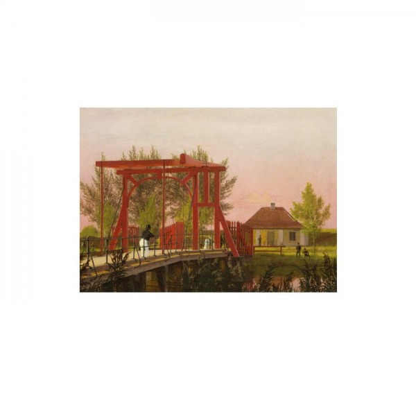 Christen Købke - The Northern Drawbridge to the Citadel in Copenhagen 50x70 cm
