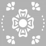 Çiçek - 4 Stencil Tasarımı 30 x 30 cm