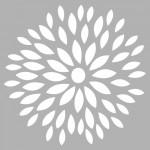 Çiçek - 6 Stencil Tasarımı 30 x 30 cm