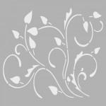 Çiçek Deseni 1 Stencil Tasarımı 30 x 30 cm