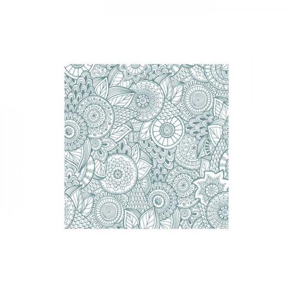 Çiçek Desenleri-1 Bulaşık Makinesi Sticker