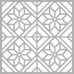 Çiçek Karo 2 Stencil Tasarımı 30 x 30 cm