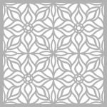 Çiçek Karo 3 Stencil Tasarımı 30 x 30 cm