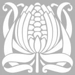 Çiçek Karo 5 Stencil Tasarımı 30 x 30 cm