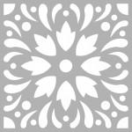Çiçek Karo Stencil Tasarımı 30 x 30 cm