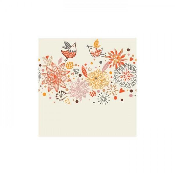 Çiçek Motifleri-3 Bulaşık Makinesi Sticker