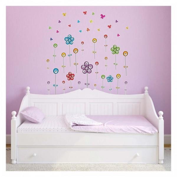 Çiçekler-2 Duvar Sticker 50x70 cm