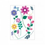 Çiçekler - 2 Klozet Sticker