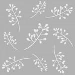 Çiçekler 3 Stencil Tasarımı 30 x 30 cm