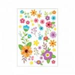 Çiçekler - 4 Klozet Sticker