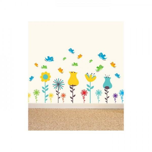 Çiçekler Alemi Dev Duvar Sticker