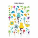 Çiçekler Duvar Sticker 50x70 cm