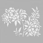 Çiçekler Stencil Tasarımı 30 x 30 cm