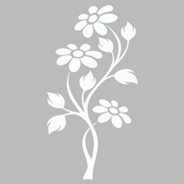 Çiçekli Sarmaşık Stencil Tasarımı 30 x 30 cm