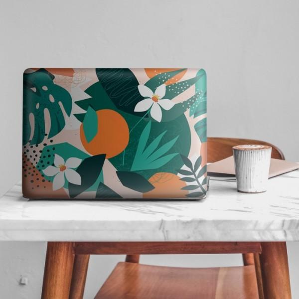 Çiçekli Tropikal Memphis Desen Notebook Sticker