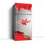 Çilek Buzdolabı Sticker