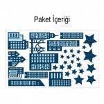 City 135x72 cm Duvar Sticker