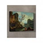 Claude Joseph Vernet - A River with Fishermen 50x70 cm