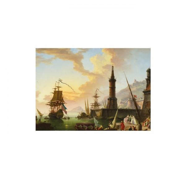 Claude Joseph Vernet - A Seaport 50x70 cm