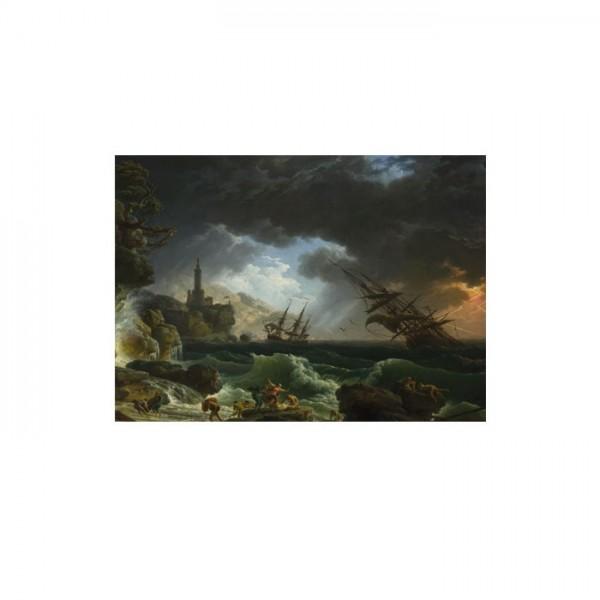 Claude Joseph Vernet - A Shipwreck in Stormy Seas 50x70 cm