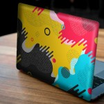 CMYK Memphis Desen Notebook Sticker