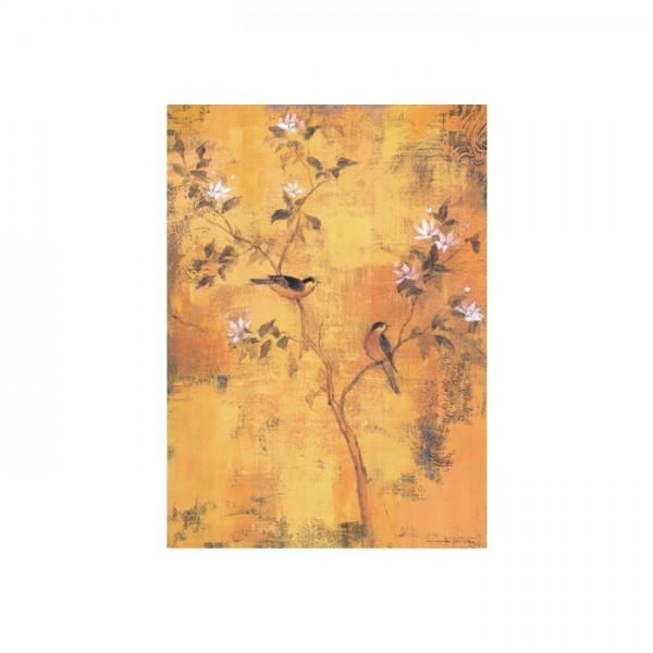 Coffe With Flower Kanvas Tablo 50X70 Cm