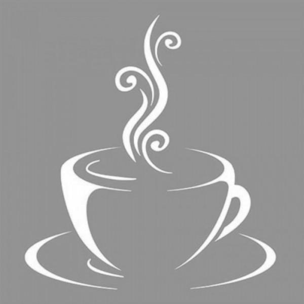 Coffee 2 Stencil Tasarımı 30 x 30 cm