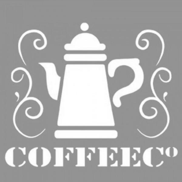 Coffee 3 Stencil Tasarımı 30 x 30 cm